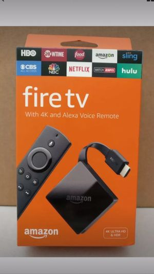Amazon fire TV with 4K and Alexa voice remote 4K alter HD and HD/R for Sale in Attleboro, MA