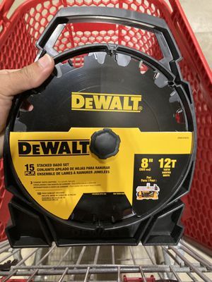 dewalt 8-in 12-tooth carbide dado miter/table saw blade (3 available) for Sale in Levittown, PA
