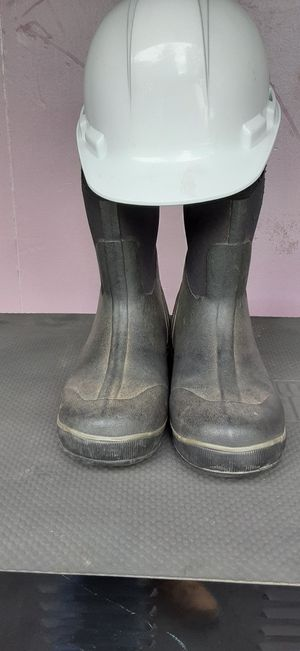 Work boots & Brand new Hard hat for Sale in Beaverton, OR