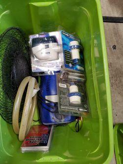 Boat Parts, Tackle Boxes, Anchors, Scott Mounts, Bilge, Bait Pumps, Holders, Jumper Cables, Ropes. Etc. for Sale in Del Mar,  CA