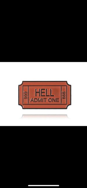 Hell admit one ticket enamel pin for Sale in Norman, OK
