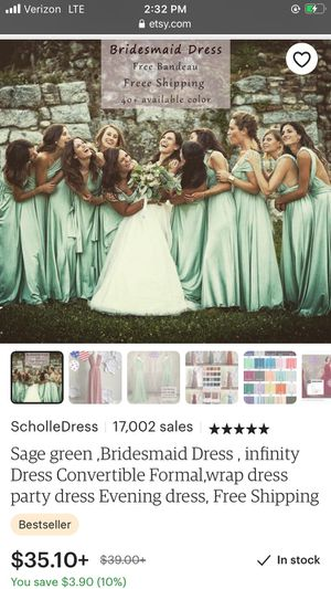 Etsy Infinity Dress (Bridesmaid) for Sale in Salem, OR