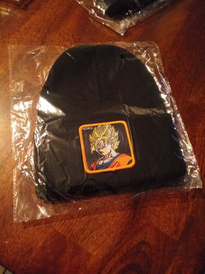 Goku, Vegeta, and Bulma beanies. BRAND NEW. NUEVOS. $8 each. TRADE or cash. Only 6 left. for Sale in Phoenix, AZ