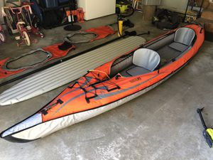 Convertible tandem inflatable kayak by Advanced Elements - $600 for Sale in Sellersville, PA