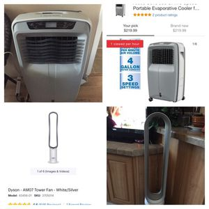 Arctic Cove Evaporated Cooler. $100.00 Dyson Tower Fan 100.00 for Sale in Phoenix, AZ