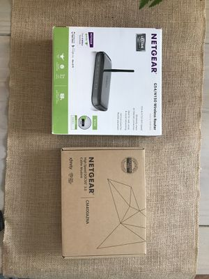 Netgear wireless router and cable modem for Sale in Port St. Lucie, FL