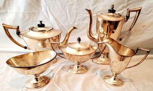 5 Piece Antique Silver Plated Tea Set for Sale in Palos Verdes Estates, CA