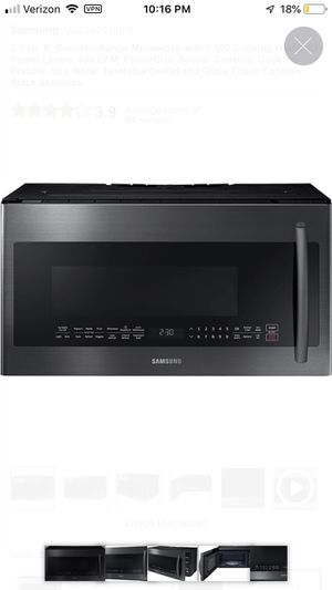 Samsung 2.1 cu ft Microwave black stainless steel for Sale in Benicia, CA