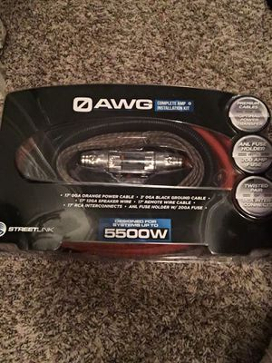0 Gauge amp wire kit for Sale in Fort Worth, TX