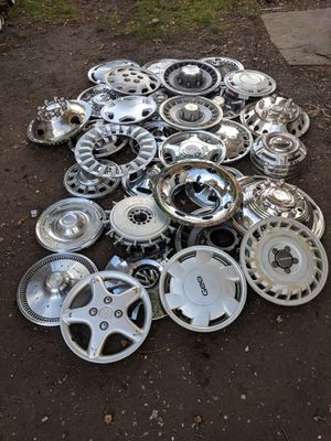 Vintage/ metal/ unusual hubcaps for Sale in Seattle, WA