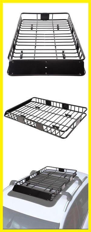 64in Car Rooftop Roof Rack Cargo Basket Carrier w/ Extension Universal SUV for Sale in Chino, CA