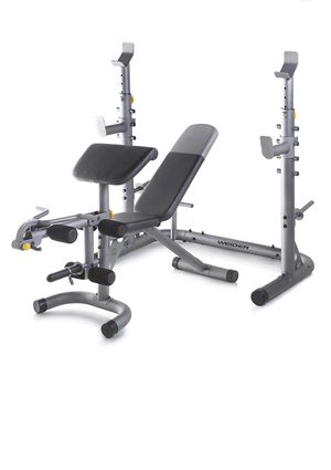 Weider Olympic Workout Bench with Squat Rack Black for Sale in Downey, CA