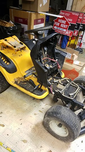 Body Cub Cadet 1554 Parting Out: hydrostatic transmission, wheels, riding lawn mower tractor parts for Sale in Cumming, GA