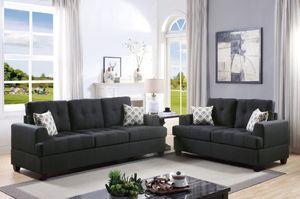 Black Sofa + Loveseat for Sale in Fresno, CA