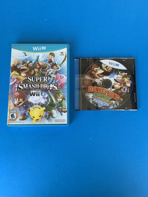 Nintendo Wii U Smash bros. and Donkey Kong Country for Sale in Buena Park, CA
