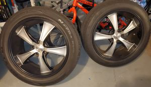 Rims size 20 5x120 with tire for Sale in Wolcott, CT