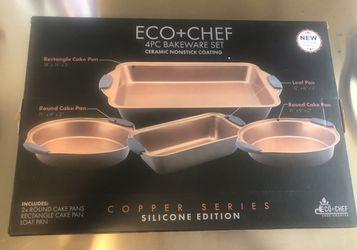 Eco Chef 4 Piece Bakeware Set Ceramic Non Stick Coating Silicone Handles for Sale in Tamarac,  FL