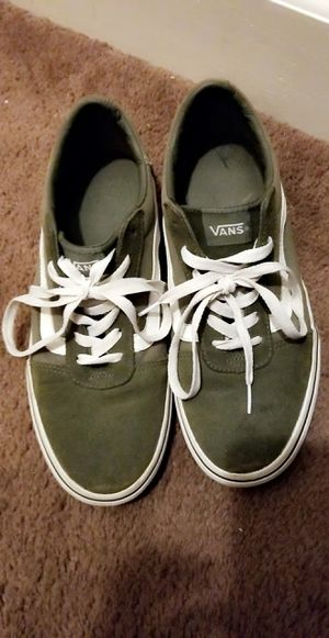 Olive Green and white Van's 9.5 womans for Sale in Rochester, NY