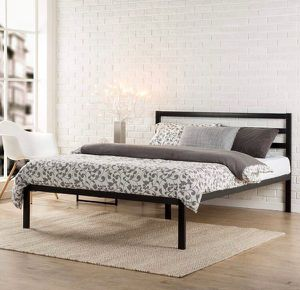New in Box Full size $79, queen size $85 and $90 for king size metal platform bed frame with headboard for Sale in Columbus, OH