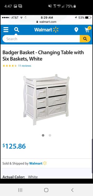 Badger basket baby diaper changing table for Sale in Fairview, NJ