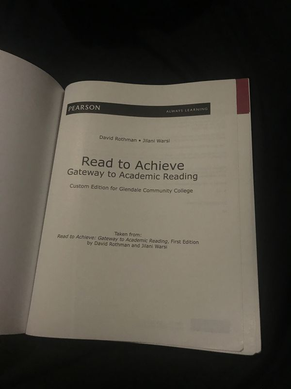 Read to achieve gateway to academic reading