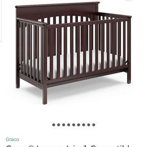 Graco Lauren 4 In 1 Convertible Crib In Espresso for Sale in Villa Rica, GA