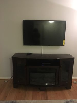 Entertainment Center with Built in Fireplace for Sale in Leesburg, VA
