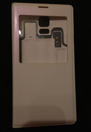 Samsung Galaxy S 5 white leather protective case $10 for Sale in Wichita, KS