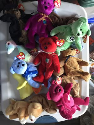 Lot of 15 original Beanie Babies for Sale in Lakewood, OH