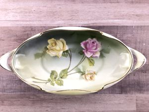 Antique RS Germany Prussia Porcelain Celery Dish with Floral Pattern for Sale in Merritt Island, FL