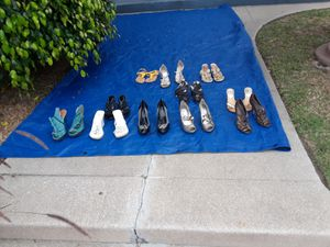 Shoes 50 pairs of heels ,flats new 5.$ each various brands 1436 pine ane long beach 90813 9 am 4pm for Sale in Long Beach, CA