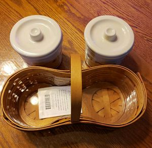 Longaberger BBQ Buddy Basket with crocks for Sale in CHARLOTT HALL, MD