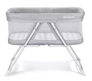 2IN1 ROCK&STAY BASSINET ONE-SECOND FOLD TRAVEL CRIB PORTABLE NEWBORN BABY,GRAY for Sale in Pomona, CA