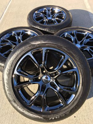 20 inch Jeep Grand Cherokee rims Rines llantas Wheels Tires yantas 🔥FACTORY OEM🔥SRT AGGRESSIVENE 💪💪🏿💪🏽🔥2019🔥 for Sale in Houston, TX