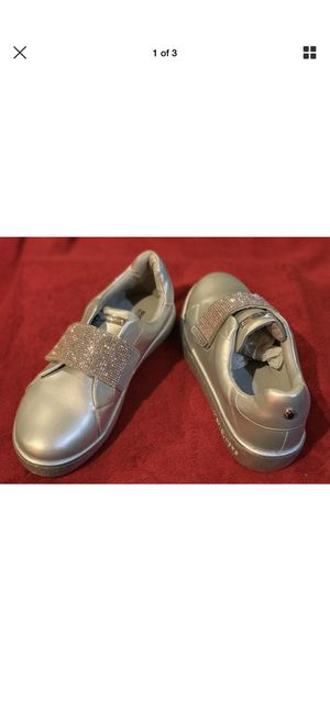 Silver bling girls Michael Kors Shoes size 3 for Sale in Missouri City, TX