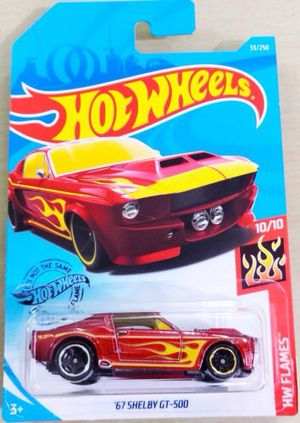 2019 Hot Wheels #33 HW Flames 10/10 '67 SHELBY GT-500 Red Variant w/Black MC5 Sp for Sale in Westminster, CA