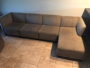 Sectional couch with chaise lounge for Sale in Mesa, AZ