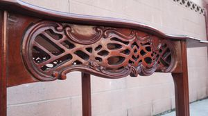 Wooden Decorative Carved Folding Table for Sale in Whittier, CA