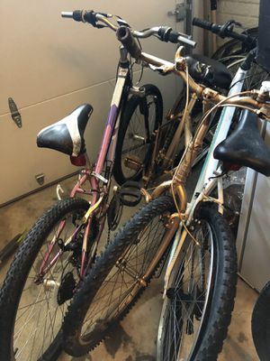3 Mountain bikes — for parts or fixing —all 3 for $100 for Sale in Springfield, VA