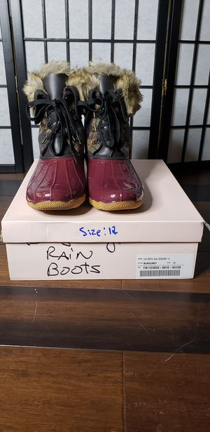 Just Fab burgundy rain boots for Sale in Olney, MD