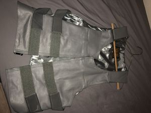 "Men's grey bulletproof style motorcycle vest. Size 42"" for Sale in Houston, TX"