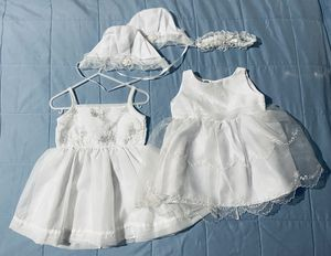 Little Girl's White Dresses- 9 months old for Sale in San Jose, CA