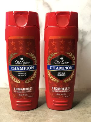 2 Old Spice Red CHAMPION Body Wash Shower Gel Men, 8 Hr scent technology 16 Oz. for Sale in Chicago, IL