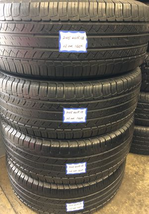 🦚SET OF 4 USED TIRES🦚 245/60/18 MICHELIN •INSTALL/BALANCE INCLUDED• for Sale in Lakewood, CA