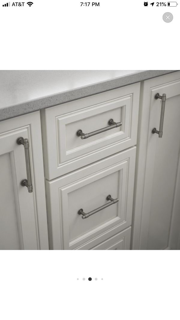 Brushed Silver Cabinet Pulls