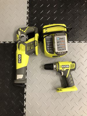 Ryobi 18v Drill, Reciprocating Saw, Battery & Charger for Sale in Mission Viejo, CA