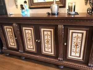 Dining room buffet with painted door panels for Sale in Vienna, VA