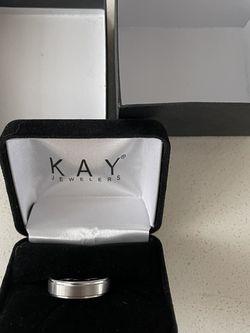 6mm Wedding Band White Tungsten Carbide, Size 8.5 for Sale in Boca Raton,  FL