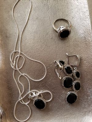 sterling ( 925)silver set.ring size 8.earrings.necklace for Sale in Gilbert, AZ