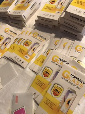 IPHONE TEMPERED GLASS SCREEN PROTECTORS for Sale in Las Vegas, NV